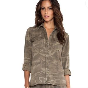 Current/Elliott The Perfect Shirt in Army Camo